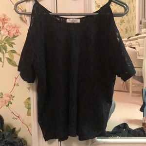 Gab and Kate Lace Cold Shoulder shirt